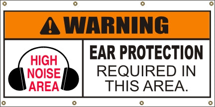 Warning – Ear Protection Required In This Area - SBS403