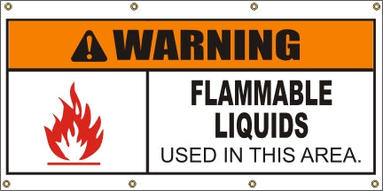 Warning – Flammable Liquids Used In This Area - SBS409