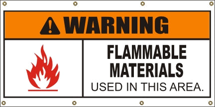 Warning – Flammable Materials Used In This Area - SBS410