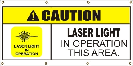 Caution – Laser Light In Operation In This Area - SBS412