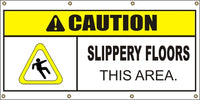 Caution – Slippery Floors This Area - SBS413