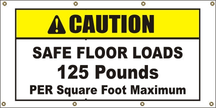 Caution – Safe Floor Loads 125 Pounds - SBS414