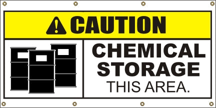 Caution – Chemical Storage This Area - SBS415