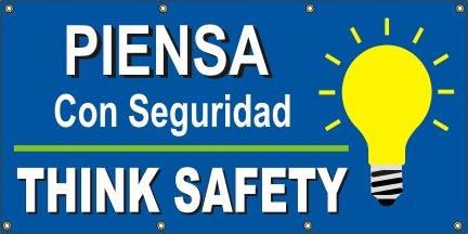 Think Safety – Bulb Graphic (English and Spanish) - SBS519