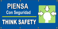 Think Safety – Head Graphic (English and Spanish) - SBS520