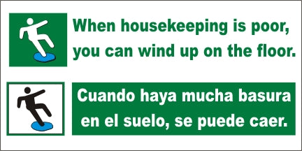 When Housekeeping Is Poor – You Can End Up On The Floor (English and Spanish) - SBS526