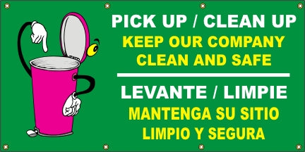 Pick Up/Clean Up, Keep Our Company Clean And Safe (English and Spanish) - SBS536