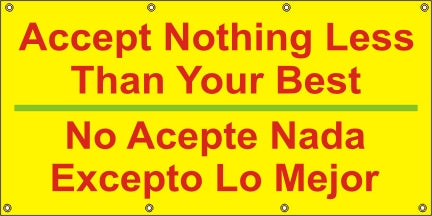 Accept Nothing Less Than Your Best (English and Spanish) - SBS538