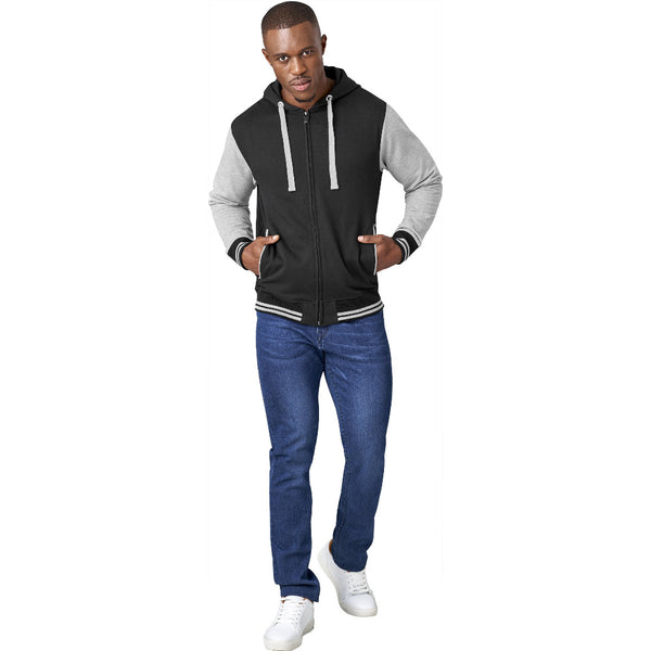 USBASIC Princeton Hooded Brushed Fleece Sweater - Modeled