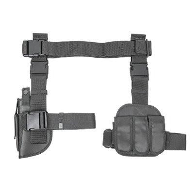 NCSTAR Pistol Drop Leg Holster + Belt + 4x Mag Pouches - Grey Edition - DEFIANT Fashion™