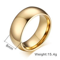 WOLF/RAM Golden Shield Tungsten Ring for Men - 8mm : Features