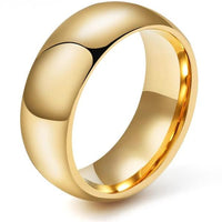WOLF/RAM Golden Shield Tungsten Ring for Men - 8mm