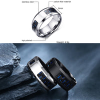 STEELTIGER™ Electric Blue Stainless Steel Mens Ring - 8mm - DEFIANT Fashion™