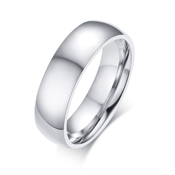 STEELTIGER™ Polished Stainless Steel Mens Ring - 6mm - DEFIANT Fashion™