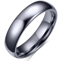 MYTHOS Silver Bullet Titanium Ring for Men - 4mm