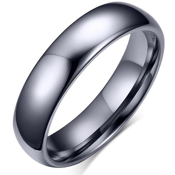 MYTHOS Silver Bullet Titanium Ring for Men - 6mm