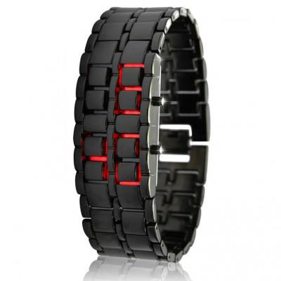 Samurai Armour Watch - Red LED