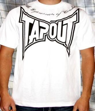 TAPOUT 3rd Strike Cotton T-Shirt - White [BACK ORDER]