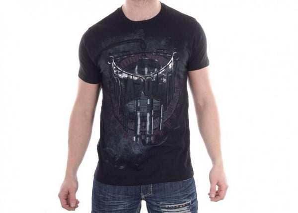 TAPOUT Droid Cotton T-Shirt - Black [BACK ORDER]