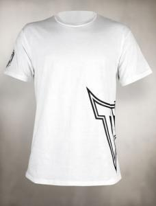 TAPOUT Sideswipe Cotton T-Shirt - White [BACK ORDER]