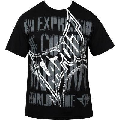 TAPOUT Message Cotton T-Shirt - Black : XL [BACK ORDER] - DEFIANT Fashion™