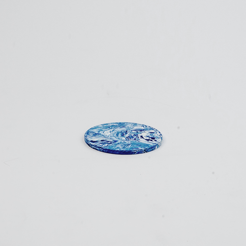 LOW x Space Available Recycled Plastic Coaster 4 Pack in Blue