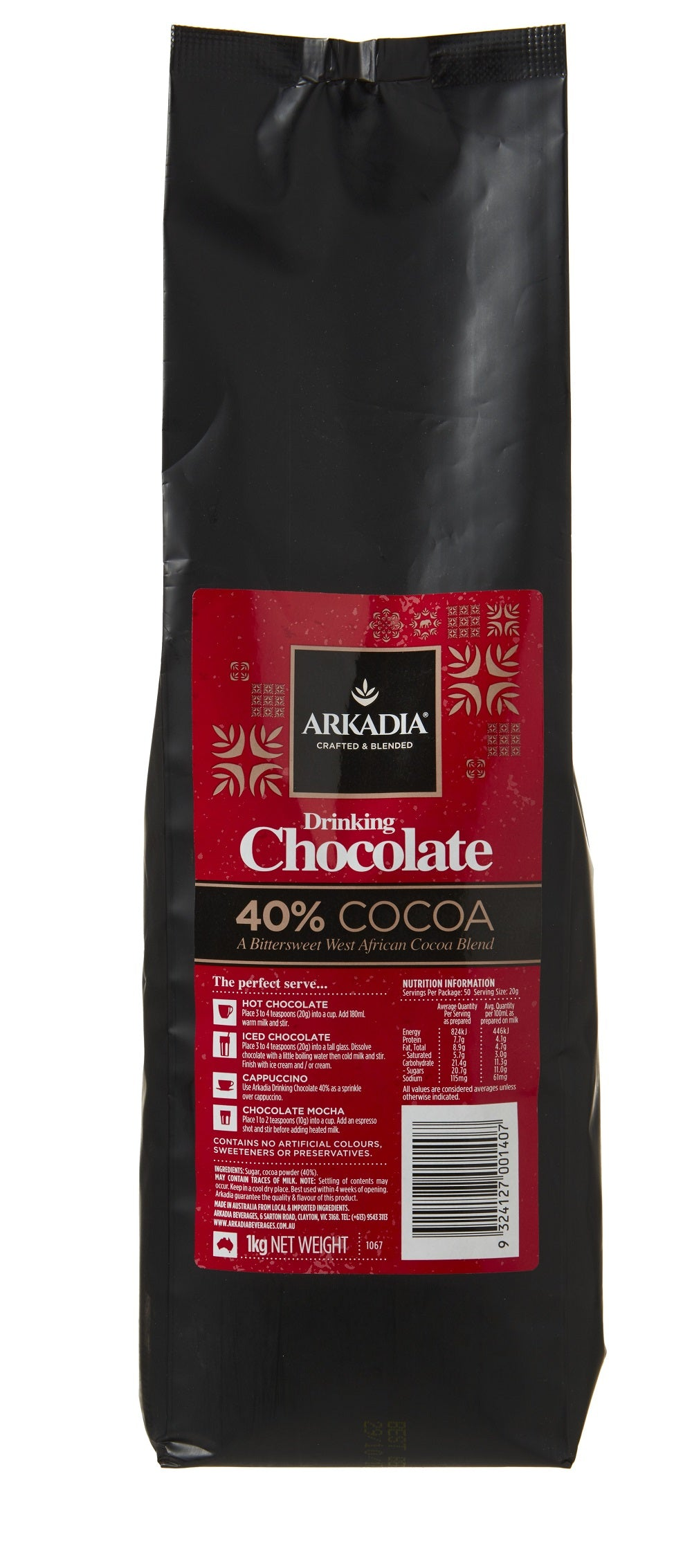 Premium Warme Chocolademelk 40% Cacao (Hot Chocolate) Mix 500 gram