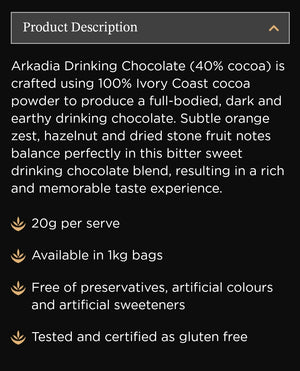 Premium Warme Chocolademelk 40% Cacao (Hot Chocolate) Mix 1kg