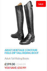 Ariat Heritage Contour Tall Riding Boots Sale