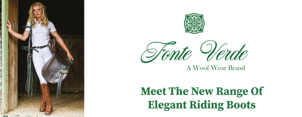 Fonte Verde riding boots by woof wear banner