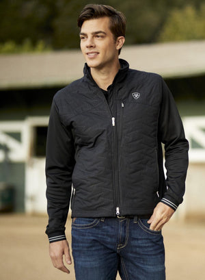comfortabl;e with sportswear styling the ariat hybrid jacket