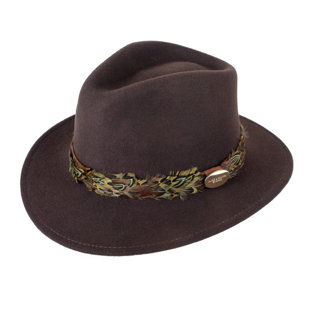 Hicks & Brown Suffolk Fedora - Pheasant Wrap