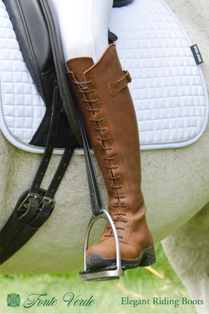 Fonte Verde Marvao cognac lace riding in the saddle