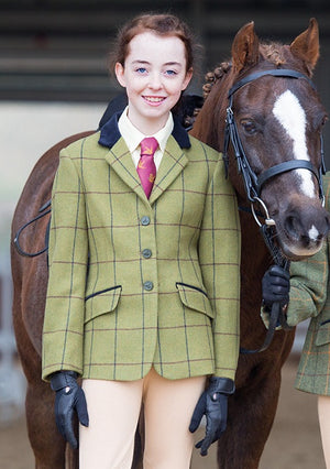 Shires Jnr Aubrion Saratoga Tweed Show Jacket