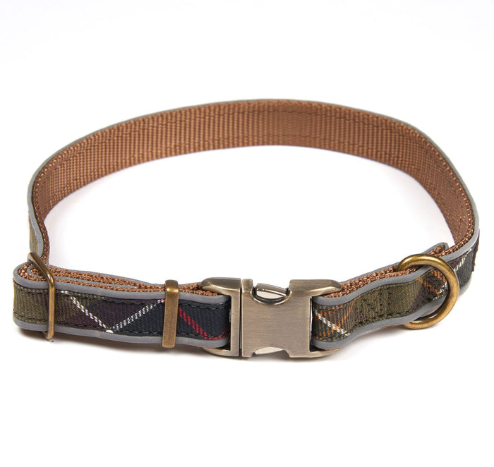 Barbour Reflective Tartan Dog Collar