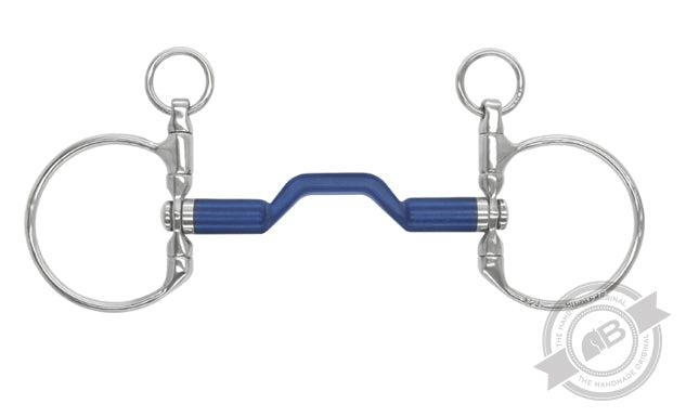 Bomber Bit  DC Dressage Blue Swivel