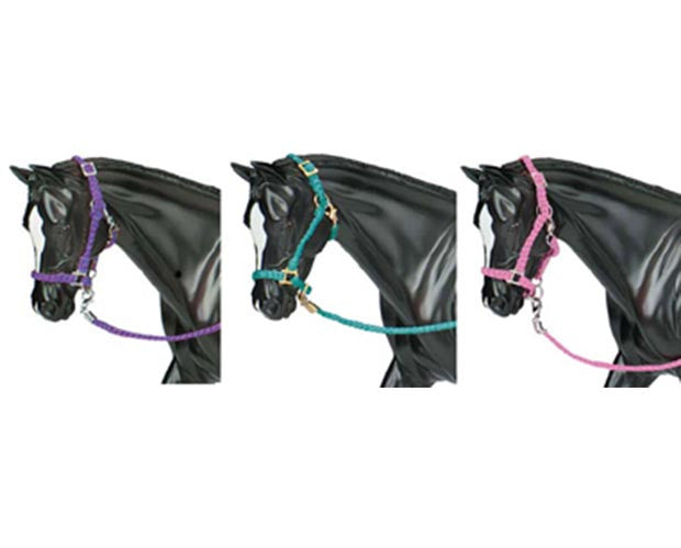 Breyer Traditional Nylon Halter with Lead Rope 3PK