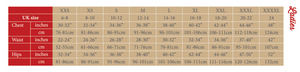 Bridleway Breeches  Malvern sizes chart