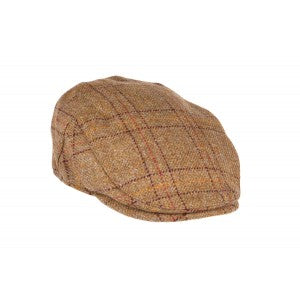 Heather Hats Kinloch Tweed Waterproof Flat Cap