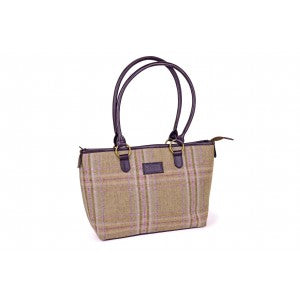 Heather Natalie Classic Tweed Tote Handbag