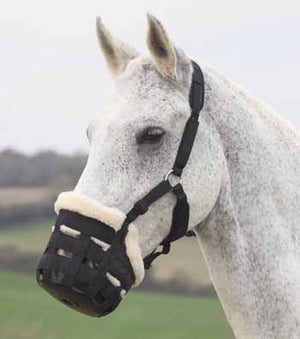 shires deluxe grazing muzzle
