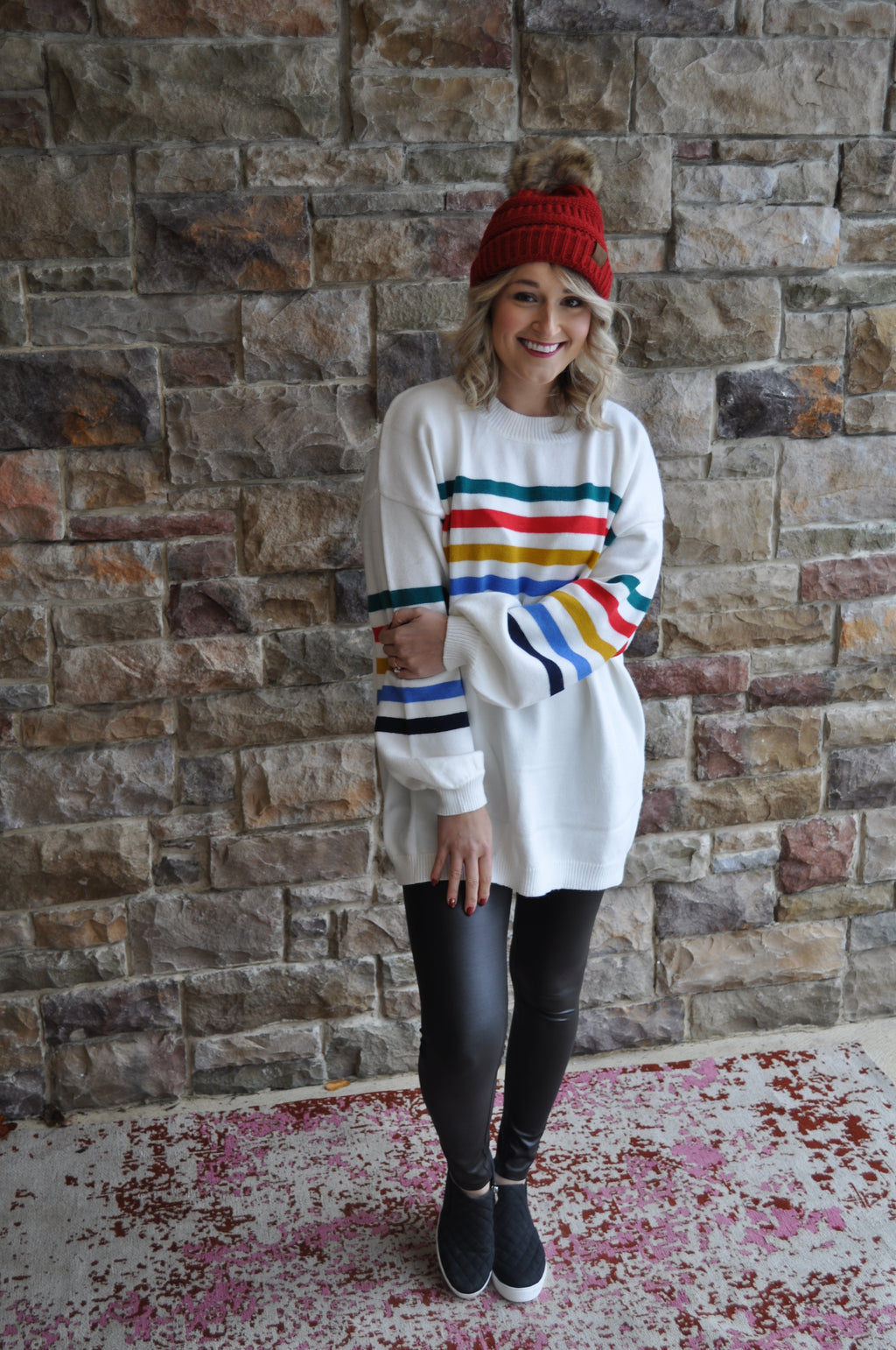 Multi Striped Oversized Sweater