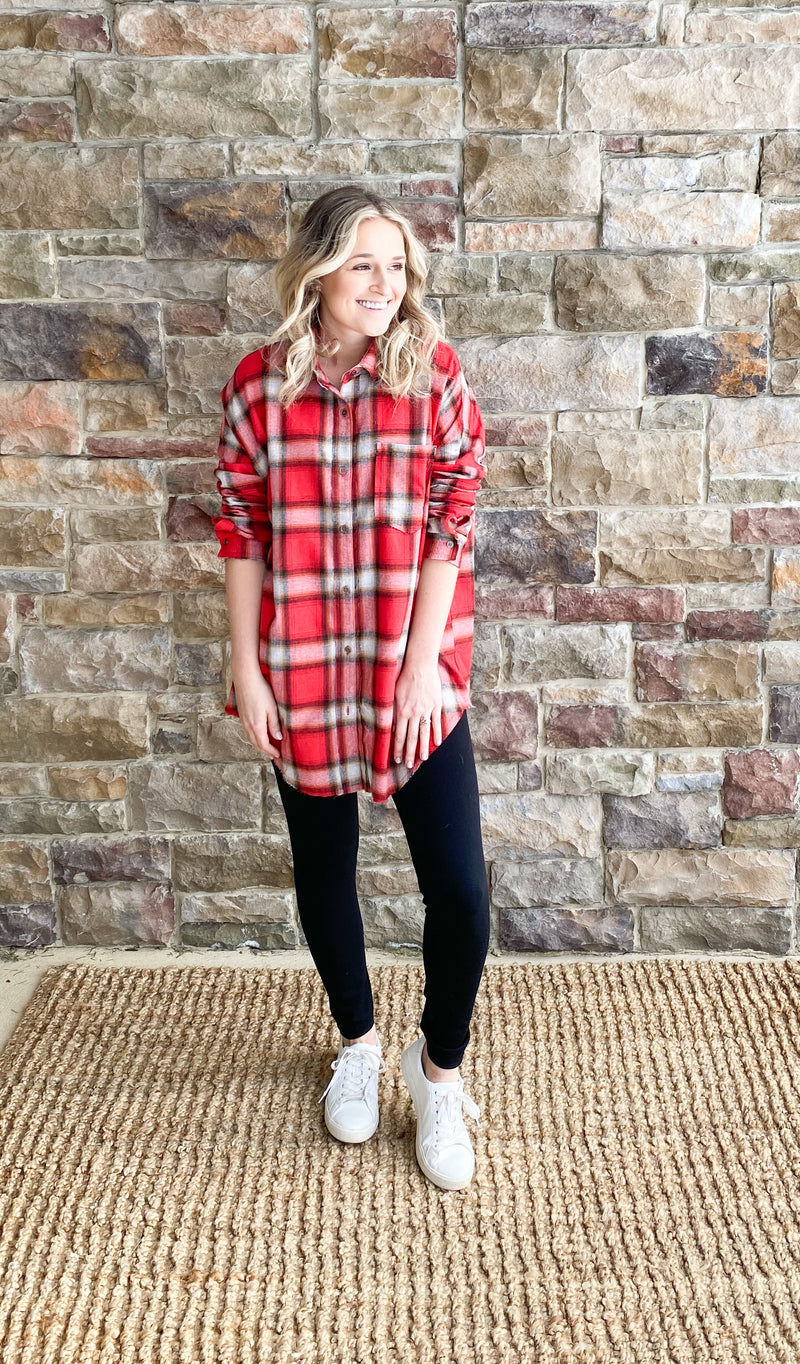 Plaid Red Tunic - Final Sale