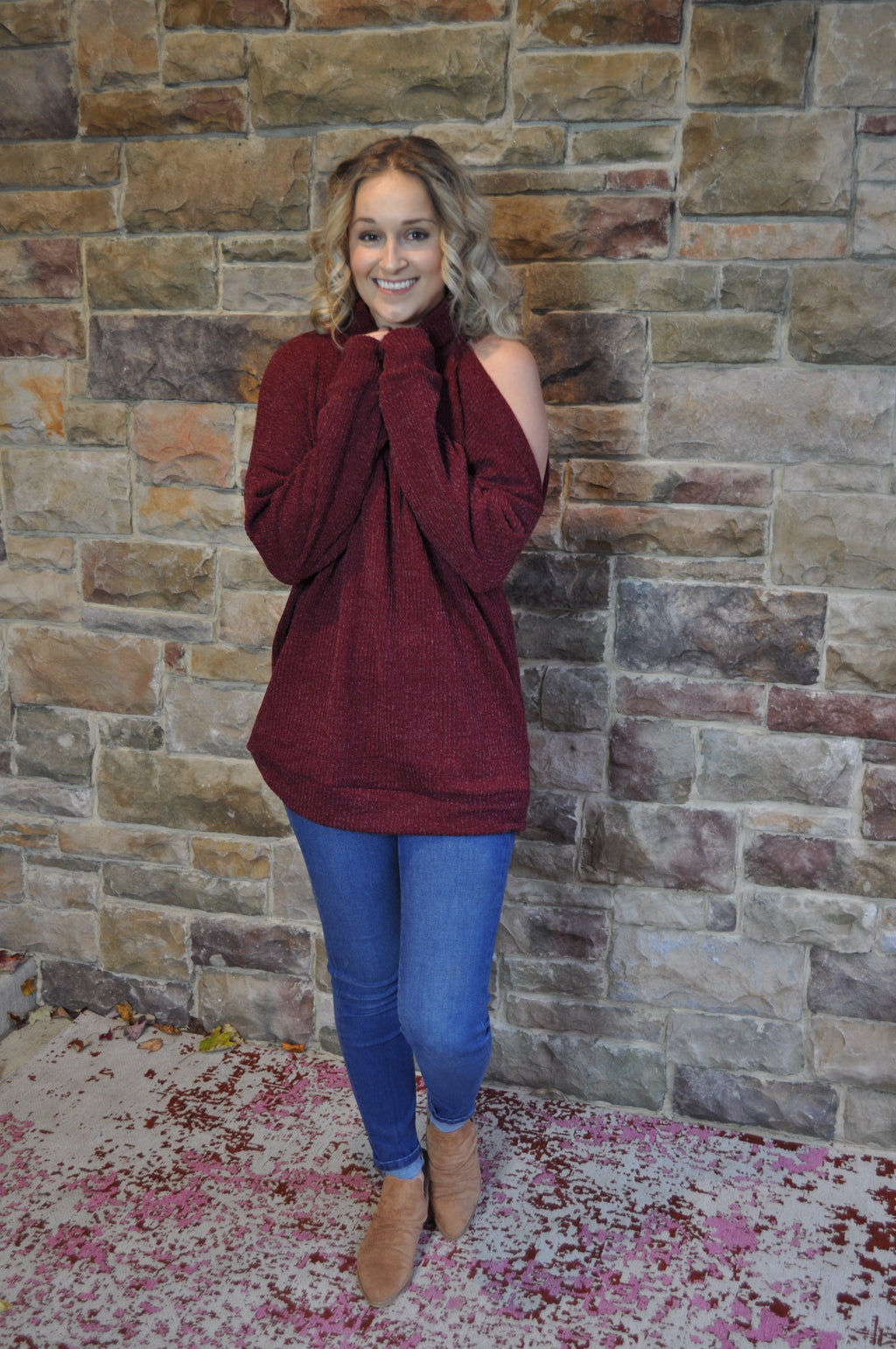 Haisley Cold Shoulder Sweater