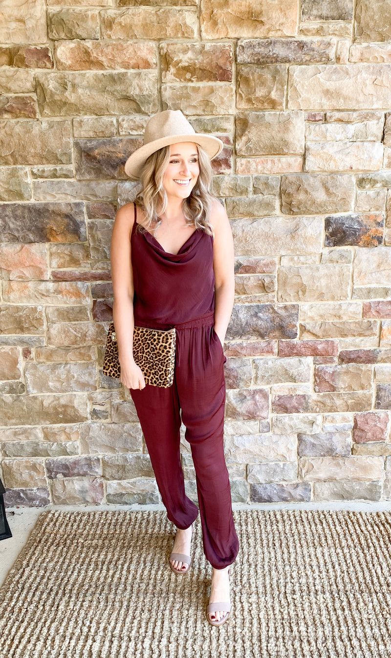 Merry Merlot Jumpsuit - Final Sale