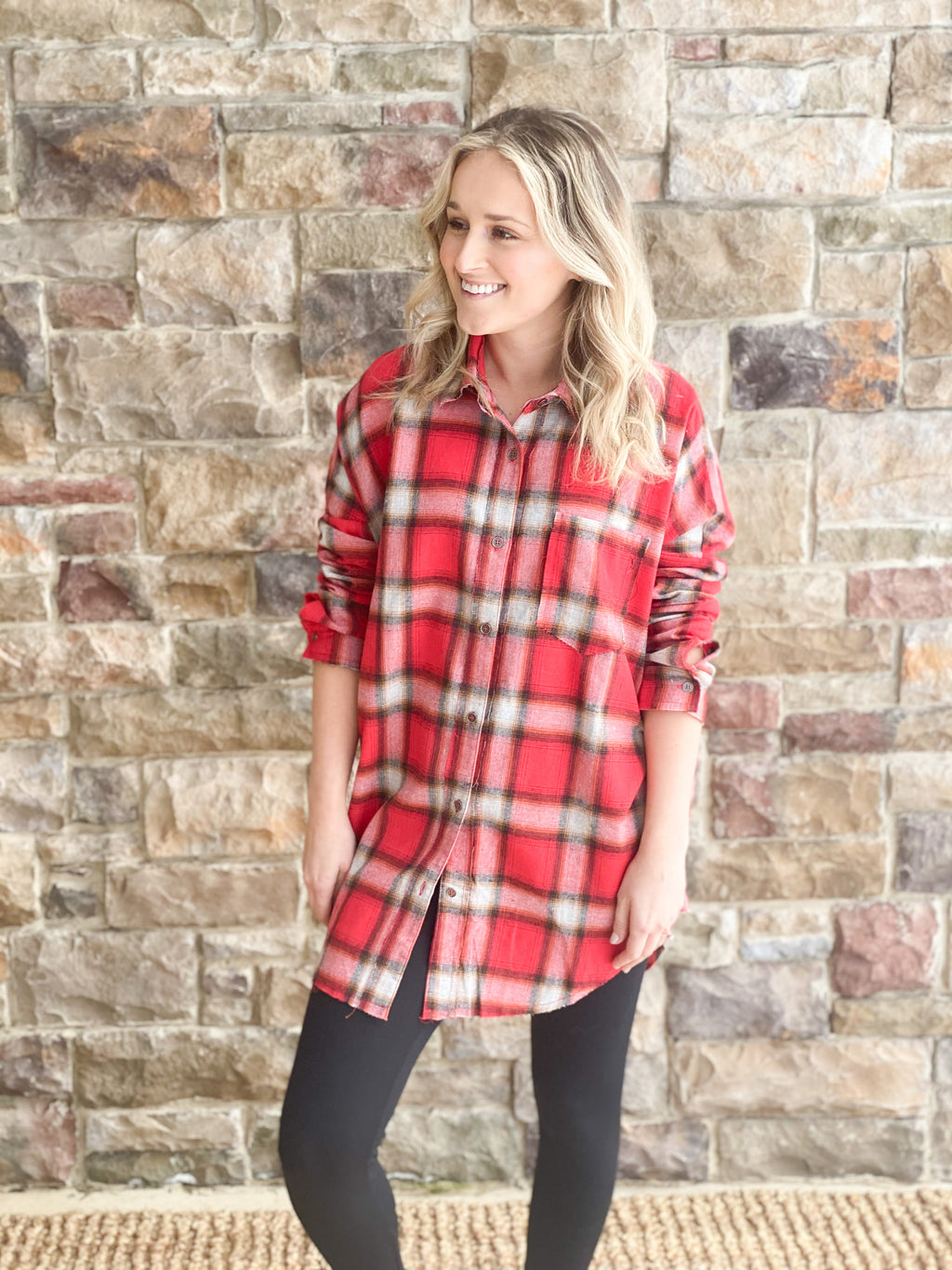 Plaid Red Tunic