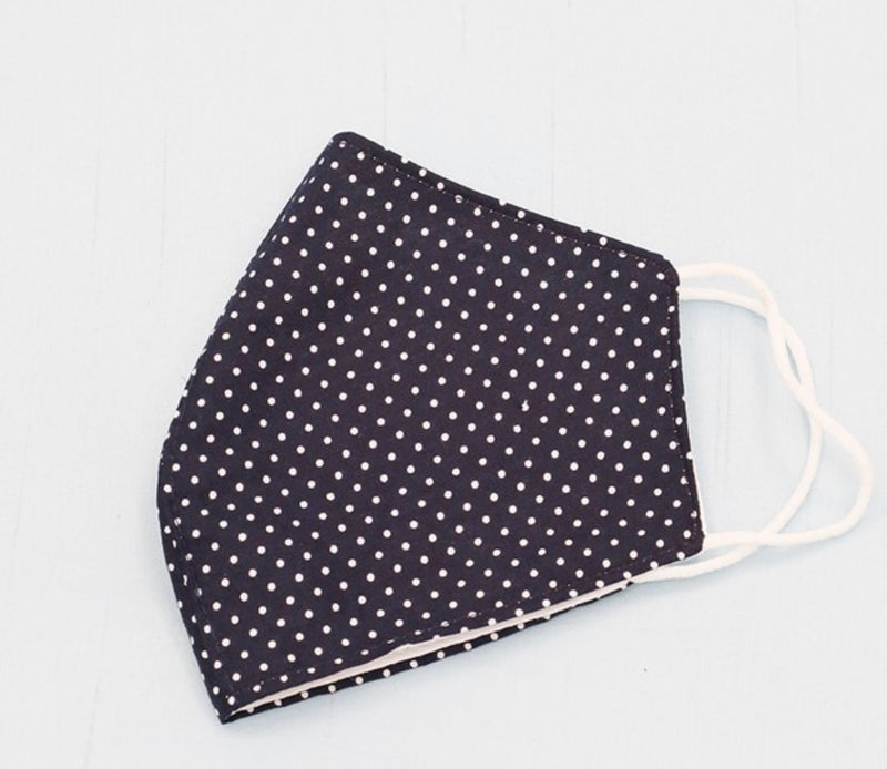 Polka Dot Mask - Navy