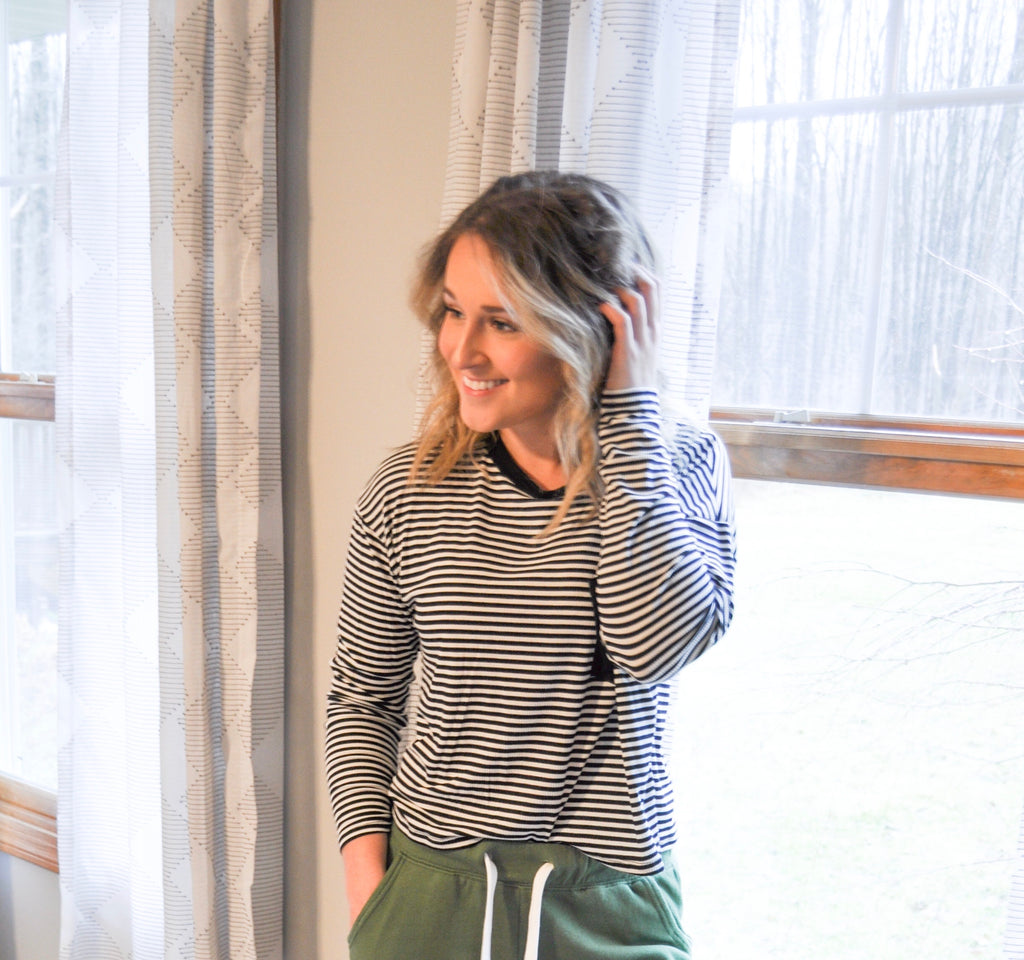 Stripe Cropped Sweater