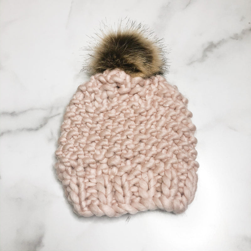 Chunky Beanie - Light Pink