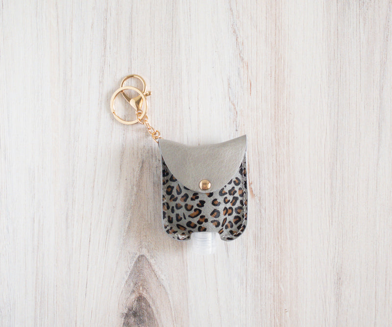 Animal Print Hand Sanitizer- Gray/ Brown Black